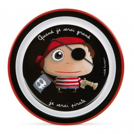 Assiette plate Pirate by Isabelle Kessedjian