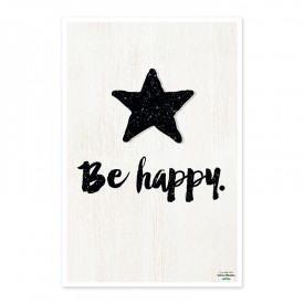 "Affiche ""Be happy"" by Créa bisontine"