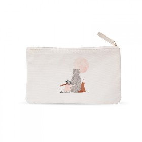 Trousse plate : Fille lune