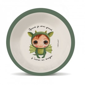 Assiette creuse bambou Dragon by Isabelle Kessedjian