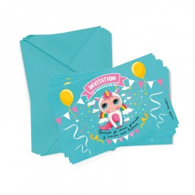 6 cartons d'invitation Licorne + enveloppes by Isabelle Kessedjian
