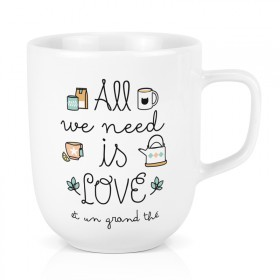 Maxi mug : All we need is love et un grand thé