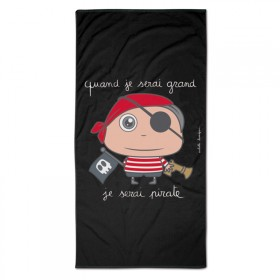 Serviette de bain/plage Pirate