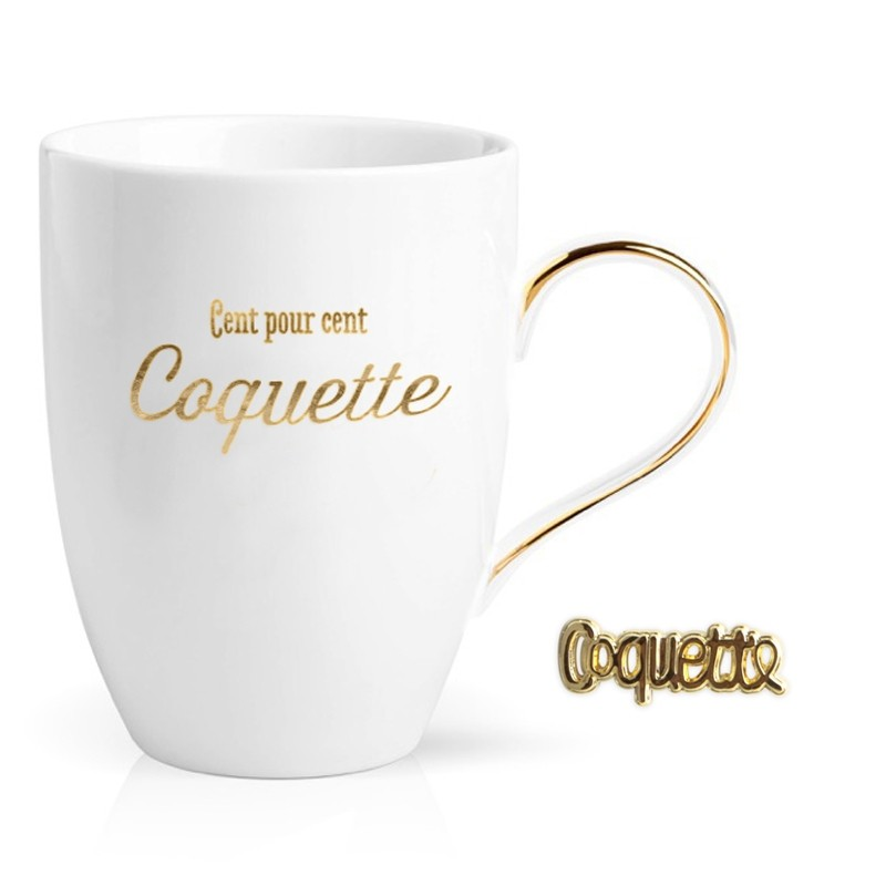 Coffret Mug/pin's Coquette by Créa bisontine