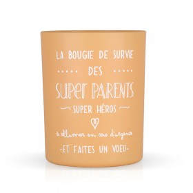 "Bougie parfumée ""La bougie des super parents"""