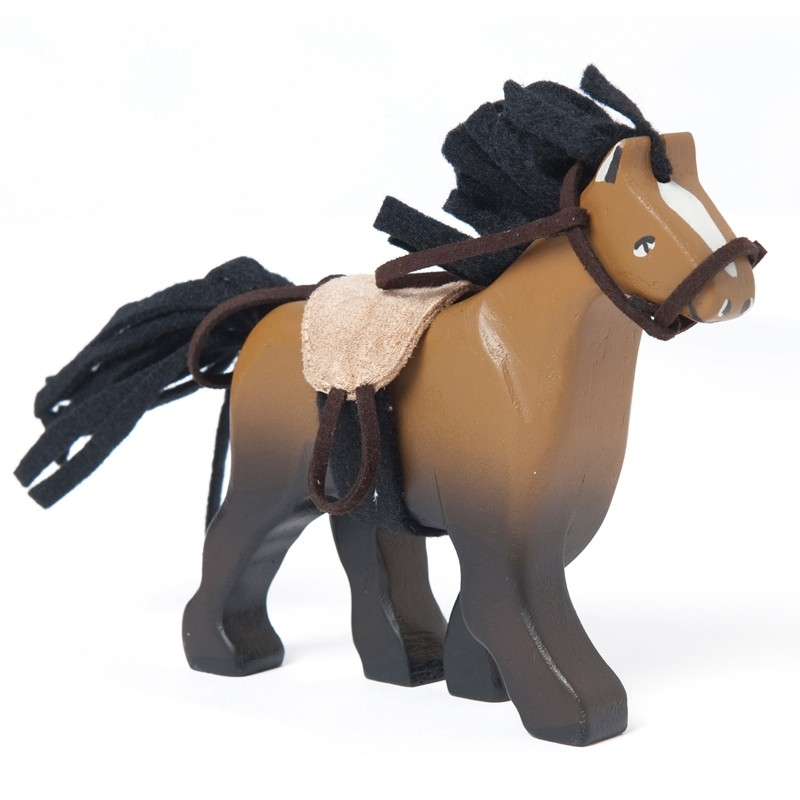 Cheval Brun avec Selle by Le toy van